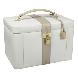 Dulwich Designs 71021 Extra Large Light Cream And Mink Jewellery Box